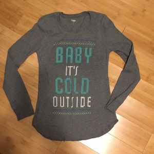 Old navy thermal sleep top